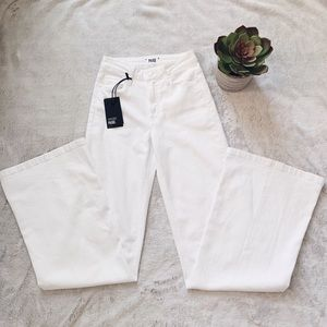 NWT PAIGE Wide Leg High Waisted White Jeans